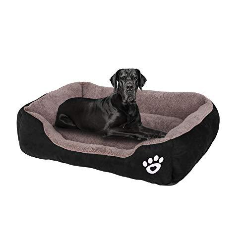 FRISTONE Hundebett Katzenbett Weich HundeKorb für Kleine Mittelgroße Große Hunde Waschbar Hundesofa Hundekörbchen m l XL XXL Grau Rot Schwarz Braun