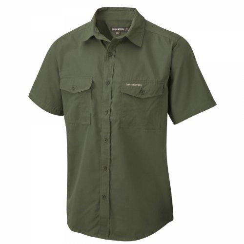 Craghoppers Herren Outdoor Reise Hemd Outdoor Reise Kiwi Kurzarm Hemd, Grün (Cedar), Gr. 56 (Herstellergröße: XL)