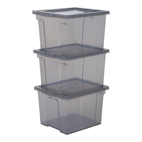 IRIS, Aufbewahrungsboxen/Kisten mit Deckel/Stapelboxen 'Useful Storage Box', Kunststoff