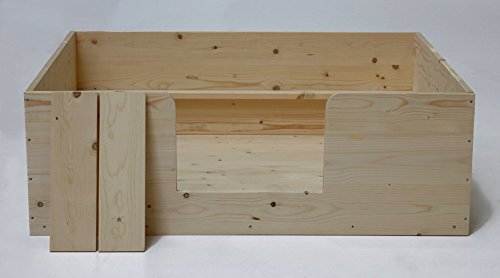 Wurfkiste 120x100xH40 cm, inkl. Welpenschutz, Sonderserie, Welpenkiste, naturbelassen
