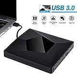 Externes CD DVD Laufwerk, Hotchy Portable CD-RW Brenner USB 3.0 Externes Laufwerk, Niedriger Lärm Slim Chip für MacBook OS Windows PC für Apple MacBook, MacBook Pro, MacbookAir, iMac