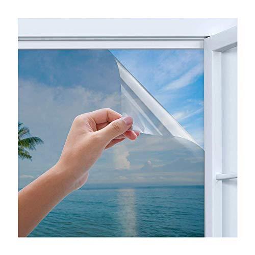Rhodesy Spiegelfolie Selbstklebend, Homegoo One Way Silber Reflektierende Fensterfolie, UV-Schutz Sonnenschutzfolie Fenster, Sichtschutz Glas-Tönungsaufkleber, 44,5 x 200 cm (17,5 x 78,7 inch)