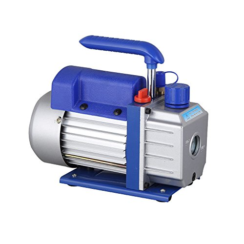 Hansemay Professionelle Vakuumpumpe Kit 2.5CFM 1 / 4HP Vakuumpumpe Klimaanlage Kühlung Geräuscharm 180 Watt