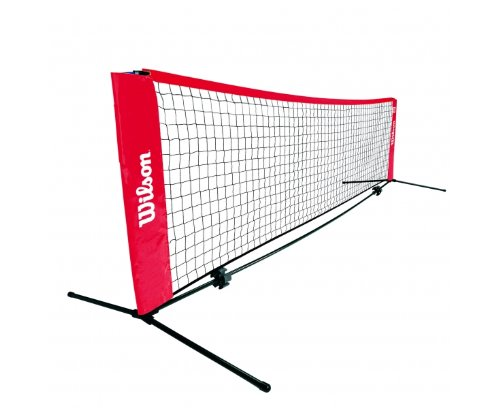 Wilson Tennisnetz EZ Trainerbedarf, schwarz, rot, WRZ259700