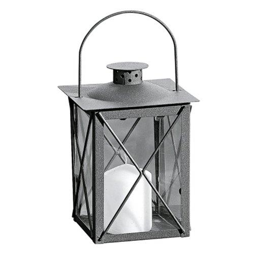 Laterne, Windlicht Farol mit Henkel in antikbraun aus Eisen, 1 Stück, Höhe ca. 20 cm