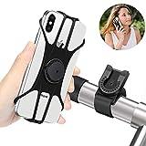 Handyhalterung Fahrrad, Abnehmbare handyhalter Fahrrad Face ID/Touch ID kompatibel, 360° drehbar,BAONUOR Universal Motorrad/Fahrrad Silikon Handy Halter, für 4-6,5 Zoll Smartphone