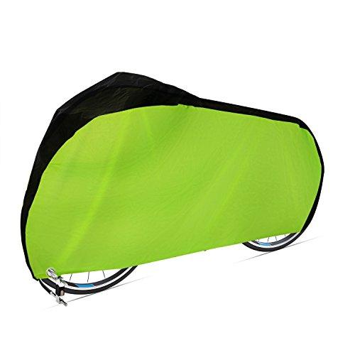 Dokon Fahrradabdeckung 420D Wasserdichtes Atmungsaktives Oxford-Gewebe Fahrradgarage mit Schlossösen Schutz, Universal Fahrrad Schutzhülle - Grün
