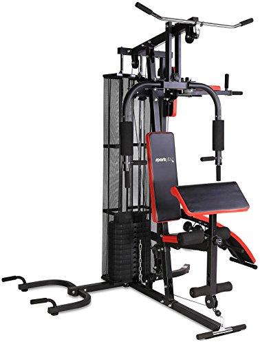 SportPlus Kraftstation • Multifunktionale Fitnessstation für zuhause • Inkl. Gewichte • Krafttraining für den ganzen Körper • Multistation • Aufbauanleitung & Übungsanleitung • Sicherheit geprüft
