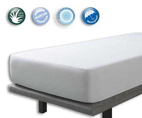 VELFONT – Matratzenschoner/Matratzenauflage Aloe Vera, Wasserdicht und Atmungsaktiv – Verfügbar in verschiedenen Größen - 90x190/200cm