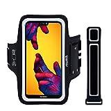 EOTW Sportarmband Handyhülle Kompatibel mit Huawei P20/ P20 Lite/ P30, Handytasche Sport für Joggen Laufen Schwarz