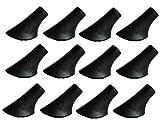 12 Stück / 6 Paar Nordic Walking Pads Asphalt Gummi-Puffer X-4GT für alle gängigen Nordic Walking Stöcke