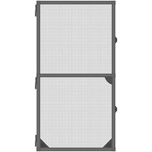 1PLUS Insektenschutz Alu Spannrahmen System premium für Türen, in verschiedenen Größen und Farben verfügbar (120 x 240 cm, Anthrazit)