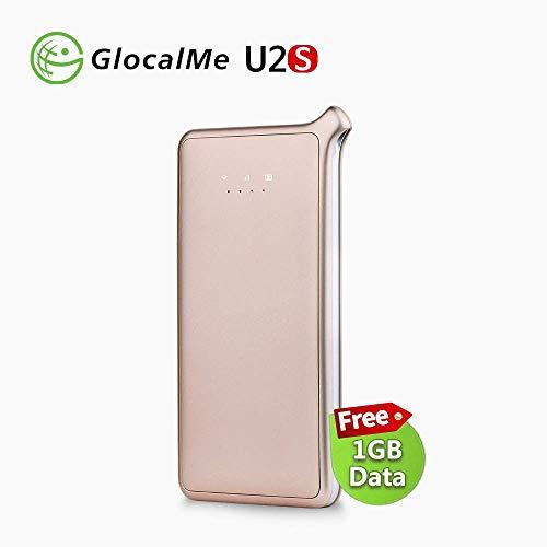 GlocalMe 4G Mobiler WiFi Hotspot Router, Keine SIM-Karte Kostenloses Roaming-Netzwerk in über 130 Ländern mit 1 GB anfänglichen globalen Daten (U2S-Gold)