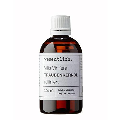 Traubenkernöl 100ml - 100% reines Öl von wesentlich.