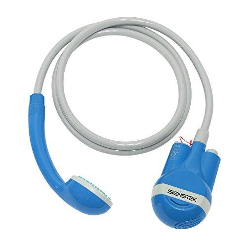 Signstek tragbar batteriebetrieben mobiler Duschkopf Mobile Dusche Outdoordusche Reisedusche *blau*