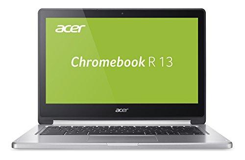 Acer Chromebook R 13 (CB5-312T-K0YK) 33,8 cm (13,3 Zoll Full HD IPS 360°) Convertible Notebook (MediaTek Quad-Core MT8173C, 4GB RAM, 32GB eMMC, Google Chrome OS, Multi-Touch) silber