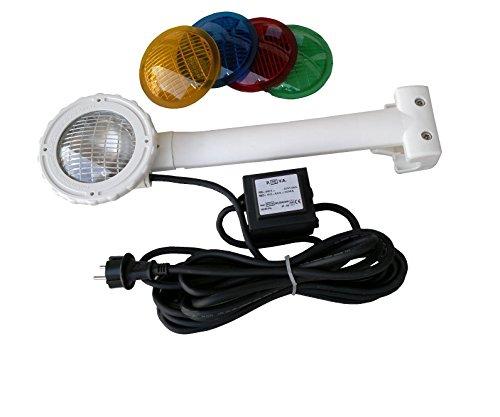 MYPOOL Poolbeleuchtung »Einhängescheinwerfer+4 Farbscheiben«