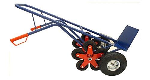 Sackkarre / Treppensackkarre 200Kg Stahl mit 5 Sternförmigen Zusatzrädern für Treppenaufgang