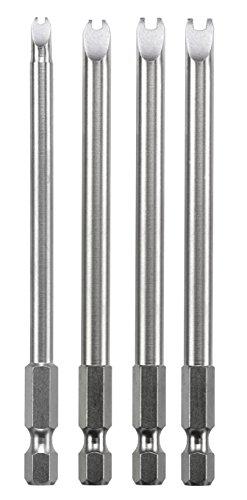 kwb Spanner Bit-Set - 4-tlg. 4, 6, 8, 10, je 100 mm, extra lang 1/4 Zoll nach ISO 1173 E 6.3