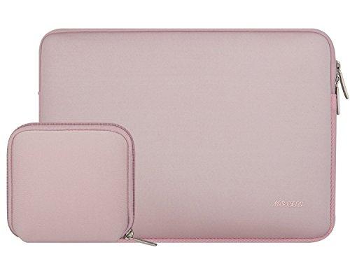 MOSISO Wasserresistente Lycra Hülle Sleeve Tasche für 13-13,3 Zoll MacBook Pro, MacBook Air, Notebook Computer Laptophülle Schutzhülle Laptoptasche Notebooktasche mit Kleinen Fall, Baby Rosa