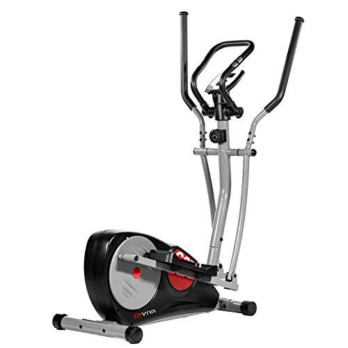 AsVIVA Crosstrainer Cardio C27 | Cardio-Trainer mit 12kg Schwungmasse, leiser Riemenantrieb, 8 manuelle Widerstands-Stufen, inkl. Computer mit Handpulsmessung