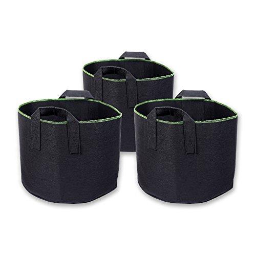 Schramm 3er Pack 30 Liter Pflanzsäcke aus Vliesstoff Pflanzsack 3 Stück Garten Sack aus Fliesstoff zum Bepflanzen Pflanzgefäß Pflanzbehälter Pflanzbeutel