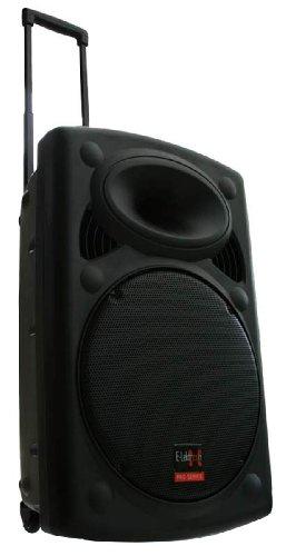 Mobile PA Sound Anlage Akku-MP3-USB-SD inkl. Funkmikrofone 900W Soundsystem E-Lektron EL38-M