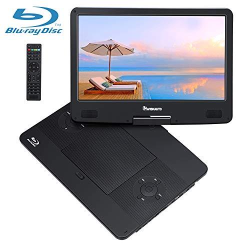 NAVISKAUTO 14' Tragbarer DVD Player Blu-ray 1920 * 1080 Full HD 1080P Video Auto Fernseher Kopfstütze Monitor mit HDMI Anschluss Drehbarer Bildschirm unterstützt Regioncode 2 Schwarz