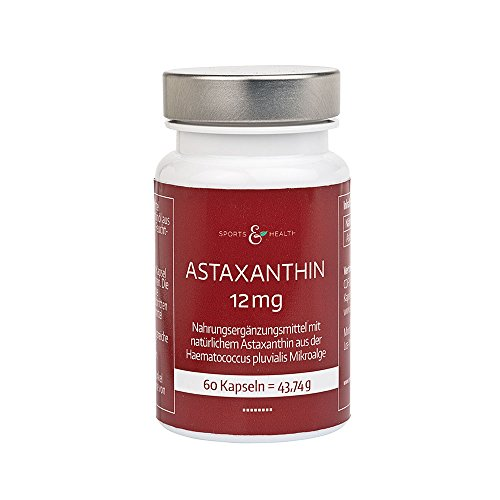 Astaxanthin 12 mg Kapseln Hochdosiert - 2 Monatsvorrat - 60 Gel Caps