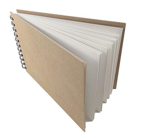 Artway Enviro - Skizzenbuch mit Spiralbindung - 100 % Recycling-Zeichenpapier - Hardcover - 35 Blatt mit 170 g/m² - A4 Querformat