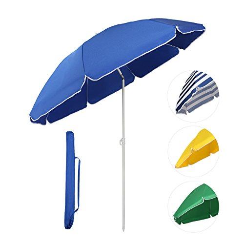 Sekey Sonnenschirm Ø 160 cm Marktschirm Gartenschirm Terrassenschirm Blau Rund Sonnenschutz UV20+