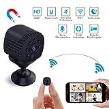 Mini Kamera WiFi, Lachesis WLAN Überwachungskamera Spy Cam Full HD 1080P Tragbare Kleine mit Bewegungserkennung und Infrarot Nachtsicht für Innen, Aussen, Heim, Büro Sicherheit Mobile App Kontrolle