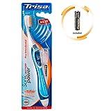 TRISA Sonic Power Pro Interdental Soft, Elektrische Handzahnbürste für die besonders effiziente Zahnpflege mit Schall, Batterie inbegriffen, blau