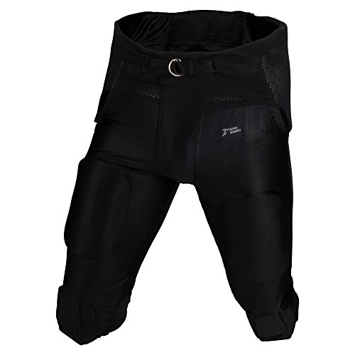 Active Athletics American Football Hose 7 Pad 'All in One' Gamepants - schwarz Gr. M