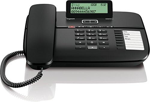 Gigaset DA810A Telefon - Schnurgebundes Telefon / Schnurtelefon - Anrufbeantworter / Display - Freisprechen - Stummschaltung - Mute / Analog Telefon - schwarz