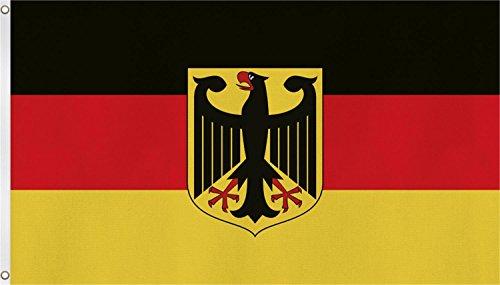 Fahne mit Messingösen 90 x 150, 150 x 250 oder 300 x 500 cm wählbar Farbe Deutschland mit Adler Größe 90 x 150