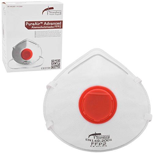 10x FFP2 Original Nowaberg Health Supplies PureAir Advanced Atemschutzmaske Staubschutzmaske