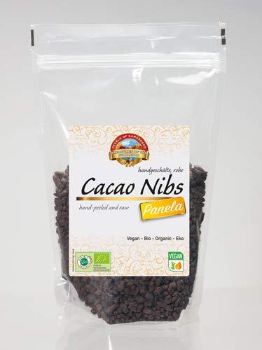 Bio Cacao Kakao Nibs roh mit Panela 600 gr Rohkost Kakaobohnen
