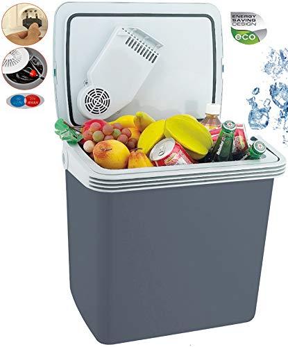 32 Liter 2in1 Kühlbox | EEk A++ | 12 Volt und 230 Volt | Thermobox | Kühltasche | Isoliertasche Warmhaltebox | Auto Camping Outdoor Kühlbox & Warmhaltebox | Tragegriff |