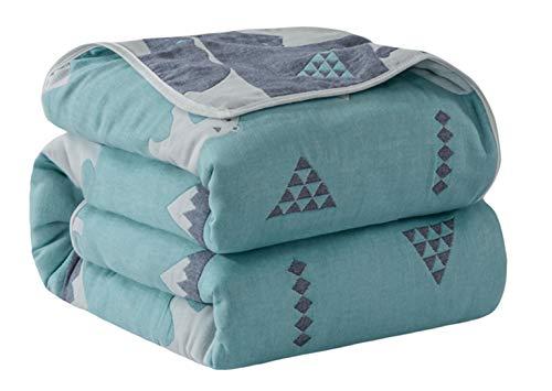Hayisugar Kuscheldecke Baby Decke Wohndecke Tagesdecke, extra soft, 100% Baumwolle, Einschlagdecke, Kinderwagendecke, Erstlingsdecke Kinderdecke, Eisbär, 120 x 150cm