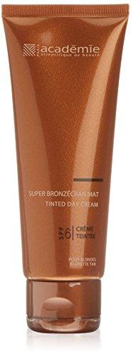 Academie Bronzecran Super Mat  unisex, Tube 75 ml - Getönte Tagescreme mit Meereskollagen, LSF 6, 1er Pack (1 x 0.102 kg)
