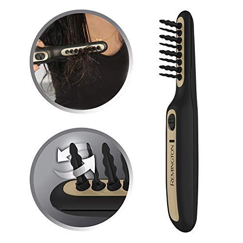Remington DT7435 Haarentwirrbürste Tangled2Smooth, elektrische Tangle Haarbürste, oszillierende Borsten für ein schnelles und einfaches Entwirren, für trockenes und feuchtes Haar geeignet, schwarz