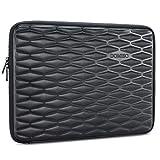 DOMISO 15-15,6 Zoll Wasserdicht Stoßfest Laptophülle Notebook Tasche Schutzhülle für 15.6' Lenovo IdeaPad ThinkPad/HP Spectre x360 Pavilion 15 Envy 15 / Dell XPS 15 / Apple/Asus, Schwarz