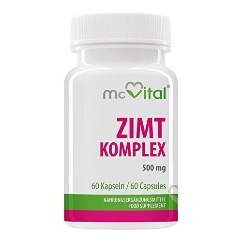Zimt Komplex - 500 mg - stabiler Blutzuckerspiegel - Cholesterinspiegels - 60 Kapseln