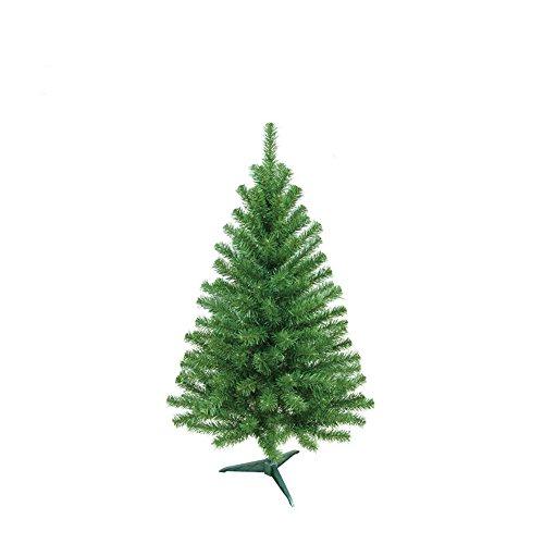 MCTECH Festive Künstlicher Weihnachtsbaum mit Ständer Farbe: Grün PVC Dekobaum (60CM)