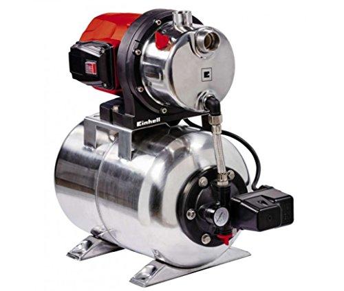 Einhell Hauswasserwerk GC-WW 1250 NN (1200 W, 5000 L/h Max. Fördermenge, Max. Förderdruck 5 bar, Druckschalter, Manometer, 20 L Behälter)