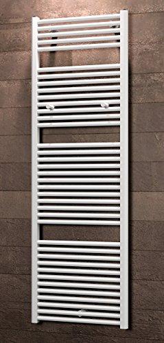 Schulte Bad-Heizkörper Pyrenäen, Anschluss unten, 177x60 cm, 1129 Watt Leistung, alpin-weiß, Design-Heizkörper für Zweirohrsysteme
