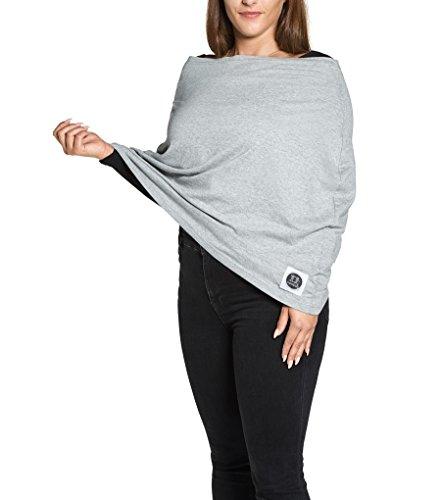Yumakids 4 in 1 Stilltuch / Stillschal, Einkaufswagenschutz, Babyschalencover, ideal für Unterwegs (grau)