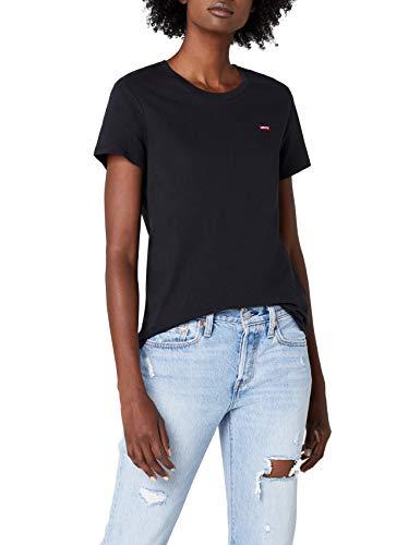 Levi's Damen Perfect Tee T-Shirt, Schwarz (Mineral Black 0008), X-Large