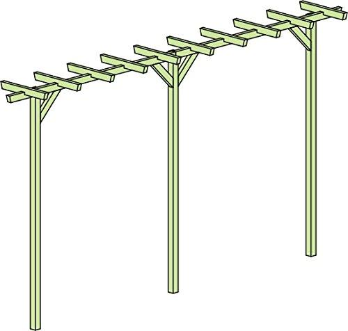 Pergola Terniflora doppelt - Abmessung: 450 x 60 x 240 cm (B x T x H)